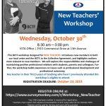 New Teachers' Workshop