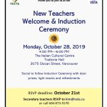 New Teachers Welcome & Induction Ceremony